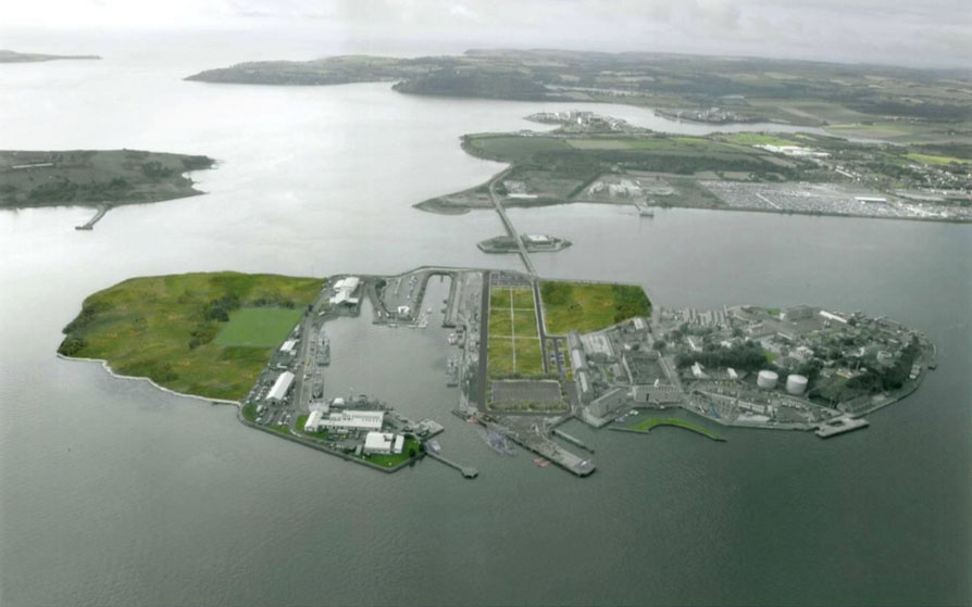 Artist's impression of Haulbowline Island post-remediation