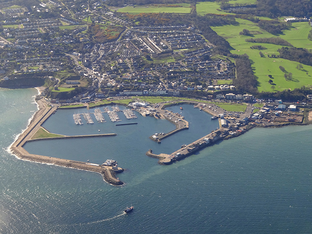 Howth Harbour Aerial