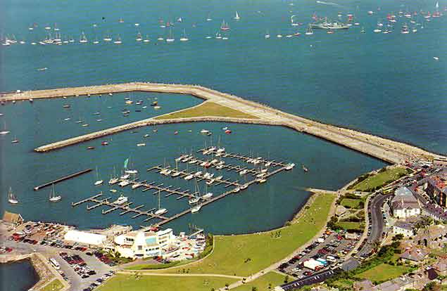 Howth harbour aerial 11