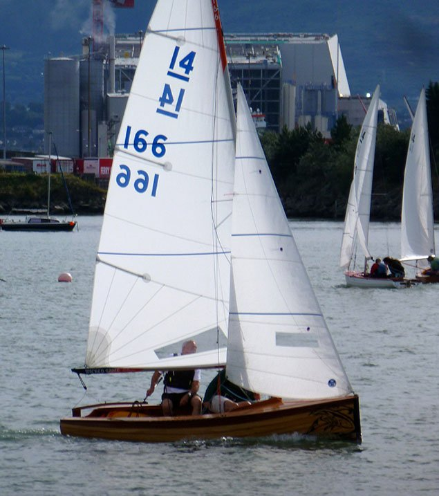 IDRA 14 dinghy sailing Dublin