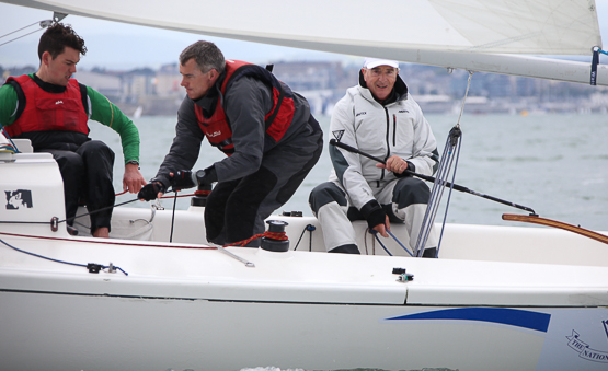 Anthony O'Leary with crew Dan O'Grady and Cian Guilfoyle