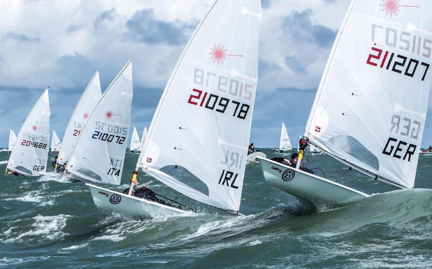 Liam Glynn recently scored a personal best result in the Laser