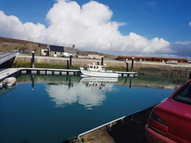 NIC SLOCUMS WHALE WATCHING BOAT AT CAPE CLEAR MARINA