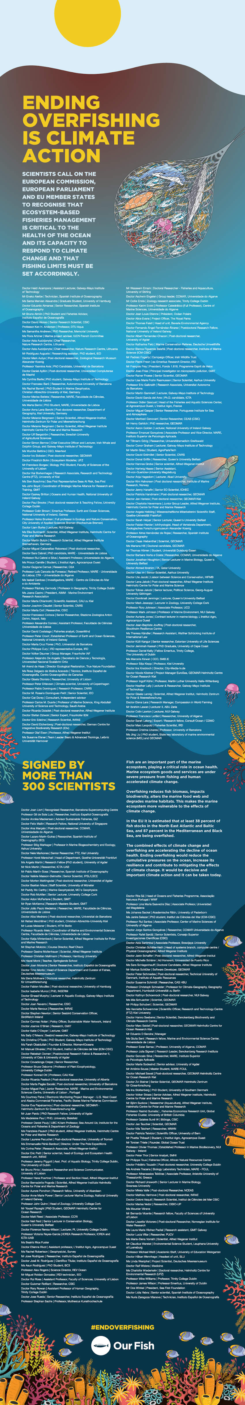 Our Fish statement and signatories