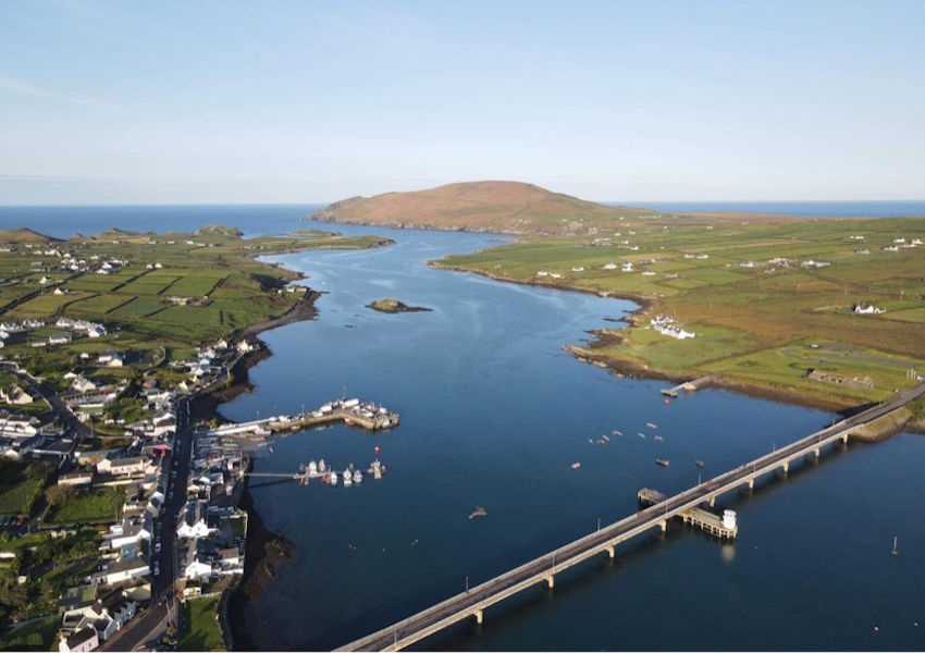 Aerial view of Portmagee in South Kerry which hosted the Irish Offshore Rowing Championships this past weekend