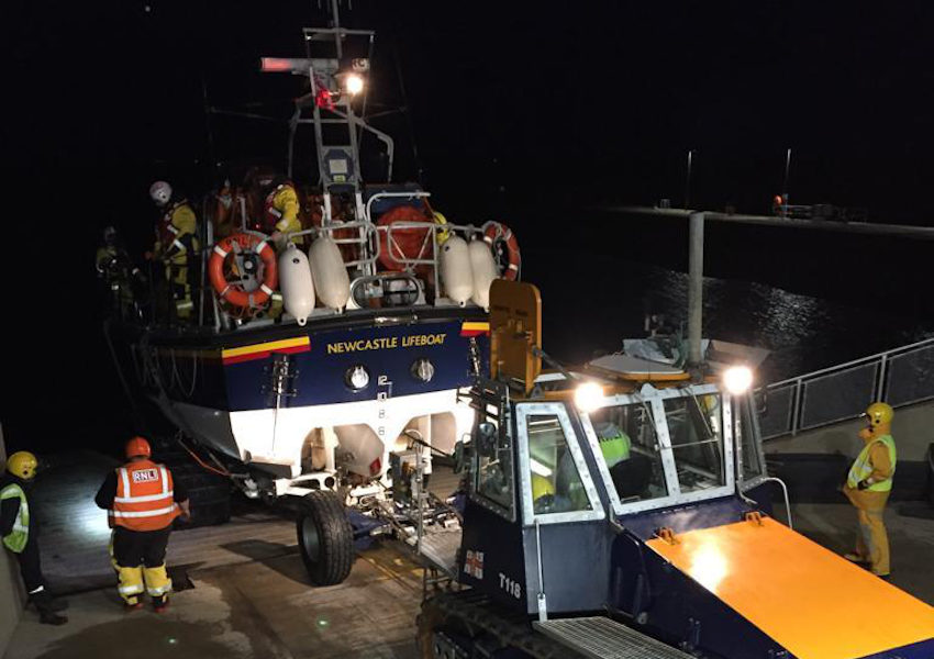 Newcastle RNLI volunteers on their recent night-time exercise