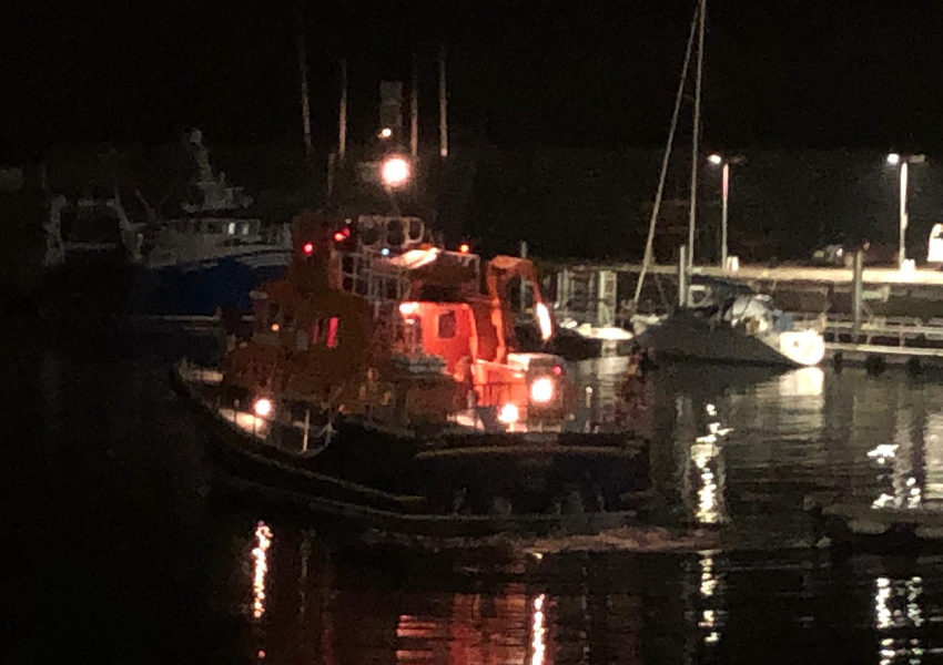 Portrush RNLI's all-weather lifeboat launches to reports of a flare (RNLI/Ben Durrant)