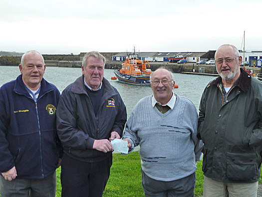 Cheque presentation to Portrush RNLI