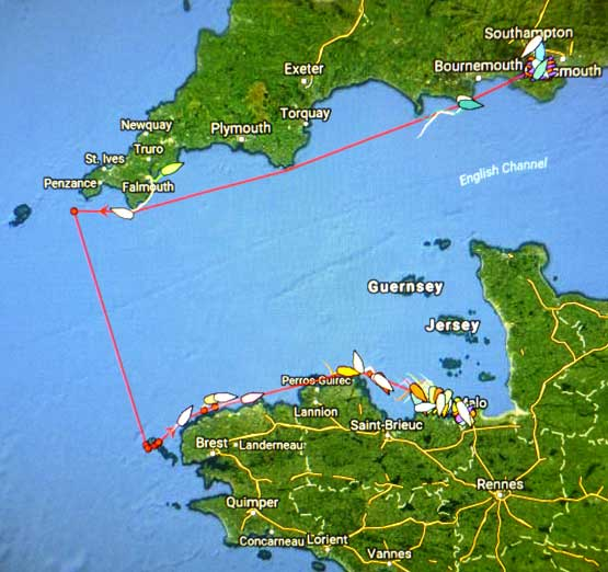 RORC Ouessant race tracker