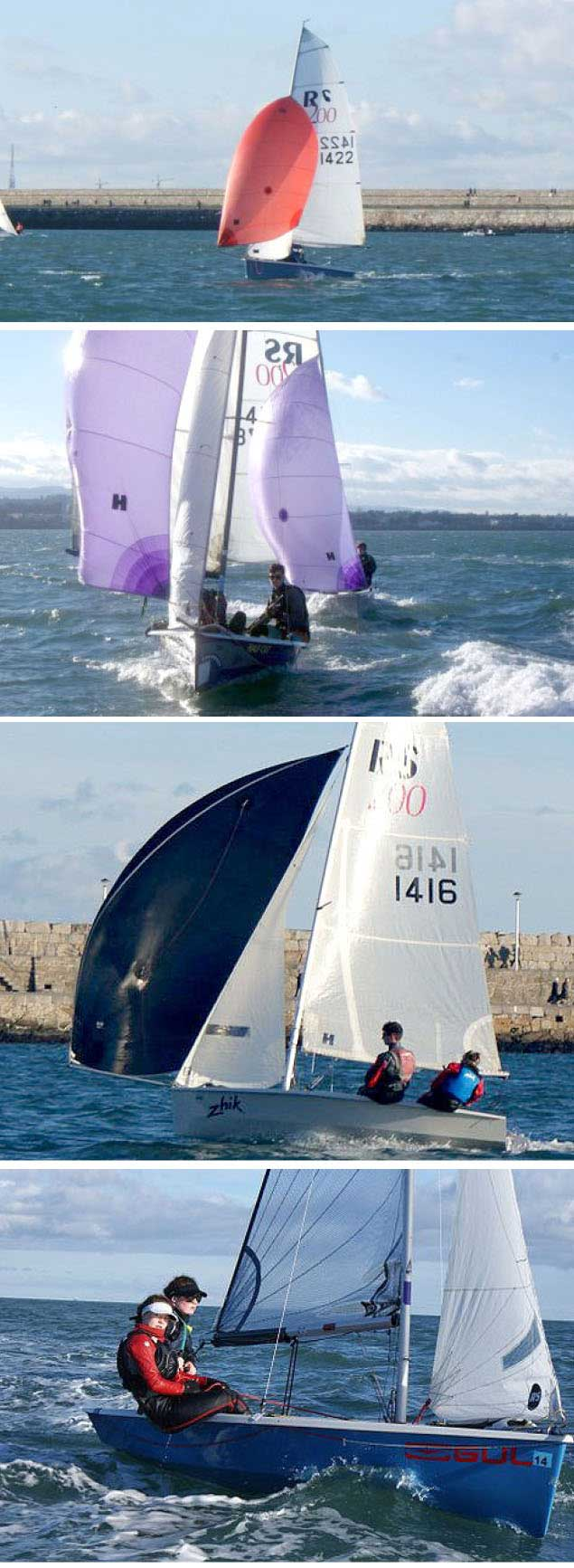 RS 200 dinghy dun laoghaire
