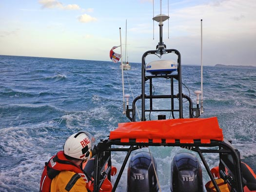 Red Bay RNLI launches to assist a lone yachtsman off Glenarm
