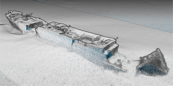 SS Polwell multibeam image