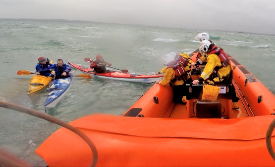 Portaferry RNLI rescues kayakers on Strangford Lough