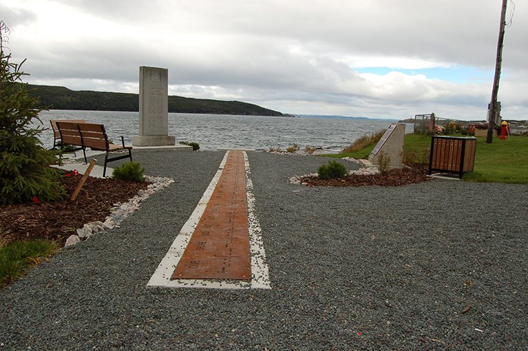 WHERE THE TRANSATLANTIC CABLE WAS BROUGHT ASHORE FROM VALENTIA AT HEARTS CONTENT IN NEWFOUNDLAND IN 1866