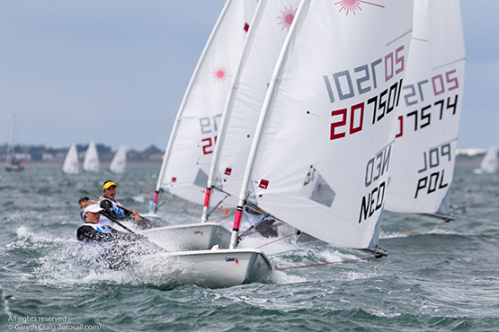 Maud Van Olst (NED 207501) approaching the gybe mark of the sixth race in the Laser Radial Youth Girls World Championships