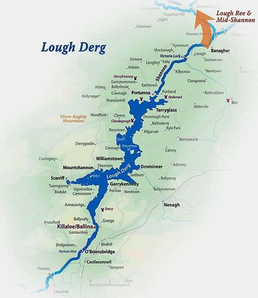 Lough Derg Map