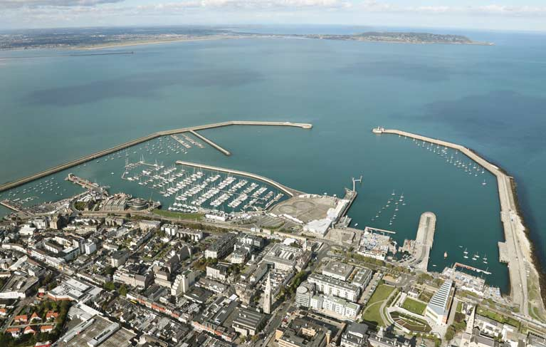 dun laoghaire aerial over town2