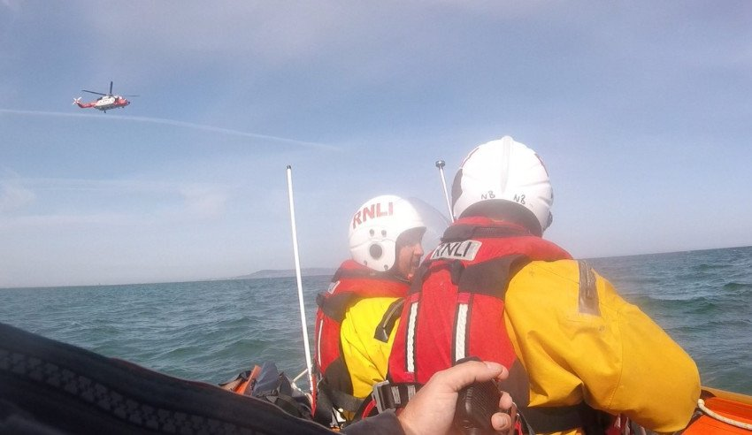 Dun Laoghaire RNLI crew on the inshore lifeboat Realt Na Mara (Photo: RNLI/Liam Mullan)
