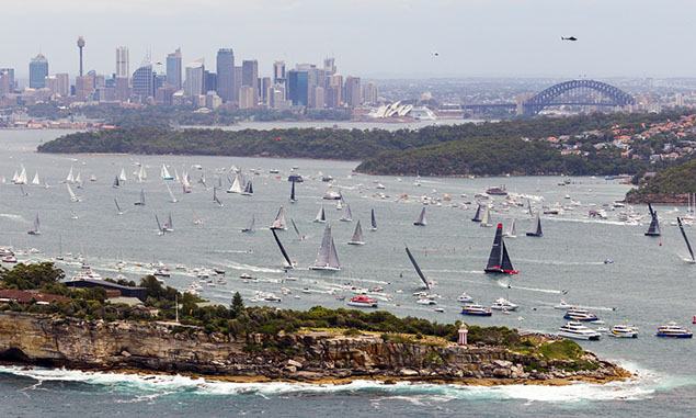 start of the Rolex Sydney-Hobart Race