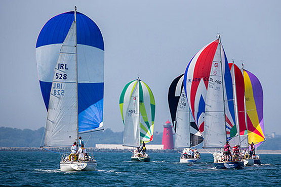 Shipman 28s racing in Dublin Bay