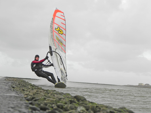 Oisin van Gelderen speed sailing at West Kirby