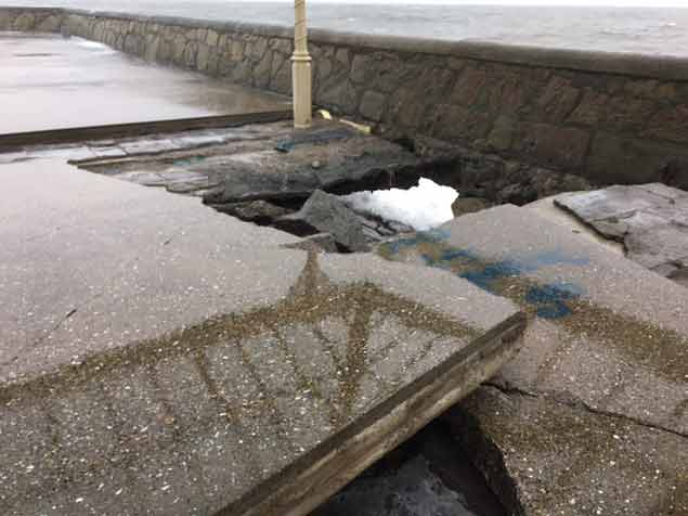 pier surface damage