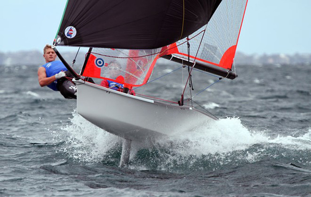 29er in flight. Nicholas O'Leary, organiser for Cork Dinghy Fest 2017, hopes that the presence of 29ers will encourage more young sailors to realize that boats like this aren't only for the elite