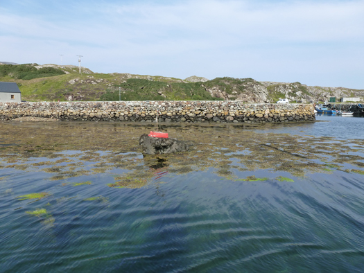The seabed is clearly visible as you pass through the channel close to the port hand marker Photo: W M Nixon