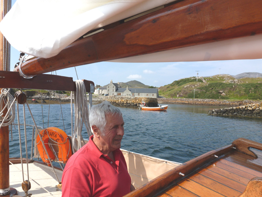 A very relieved skipper as we start to find deeper water in the pool Photo: W M Nixon