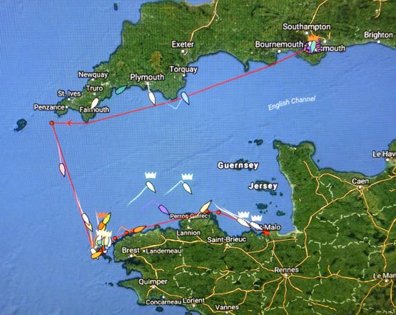 RORC Ouessant tracker