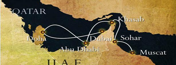sailing tour arabia route