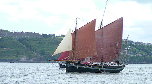 peel castle sailing in cork harbour