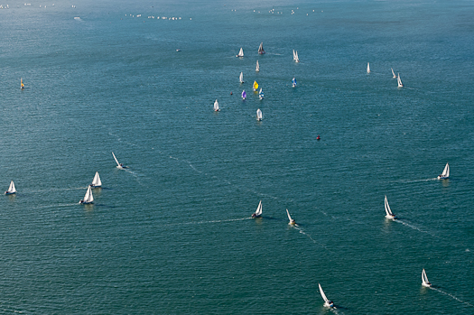 aerial of cork harbour yacht