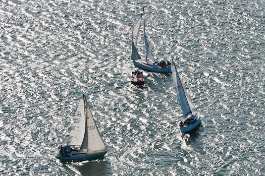 cork yacht racing aerial