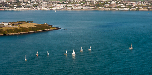yachts aerial cork