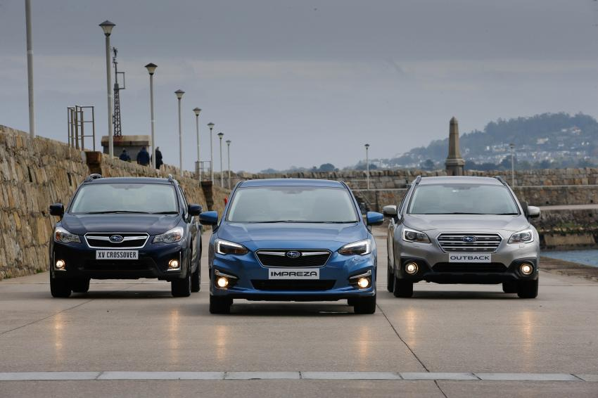 Subaru cars on the pier at Dun Laoghaire
