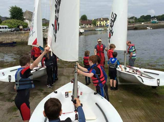 Going afloat at Kinvara Bay Sailing Club