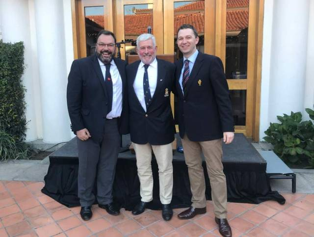 Attending ICOYC San Francisco 2018 were (L-R) Colin Morehead, Vice Admiral, Royal Cork YC,  Andy Anderson, President ICOYC & Gavin Deane, General Manager, Royal Cork YC