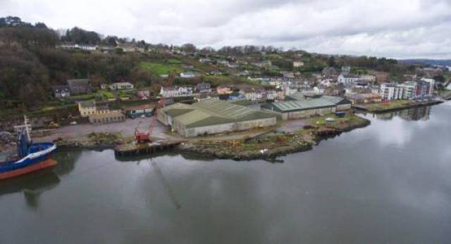The Cork Harbour site known as The Dockyard in Passage West.