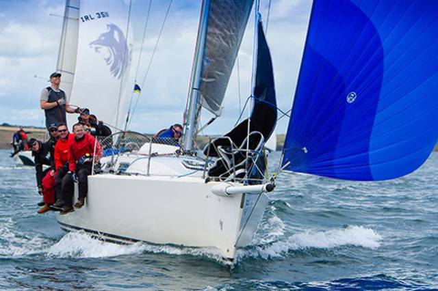 The winning J109 Joker 2 – a winning Defence Forces crew was assembled in a matter of months for the inaugural international inter-service sailing contest at Cork Week 2016