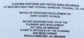 Pontoons and visitor swing moorings are to be installed in Youghal harbour. See full notice below
