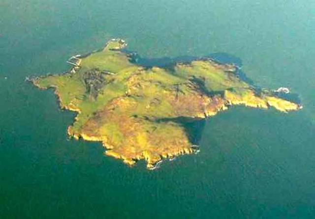 Lambay Island off North Co Dublin