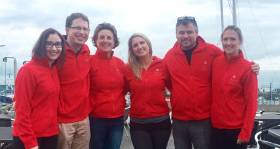 The Howth Yacht Club Try Racing Team – Ciara Hennessy, John McNaboe, Orla Blake, Leah-Ann McHenry, Noel Davidson and Liz McNulty