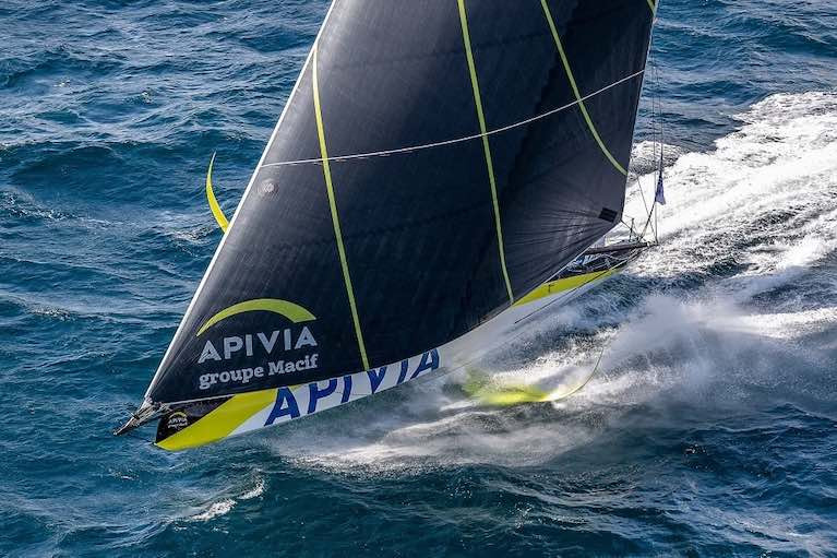 Apivia is back in race mode after making foil repairs