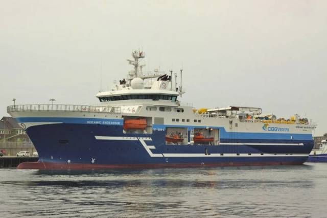 The RV Oceanic Endeavour will carry out two separate 3D seismic surveys in the Porcupine Basin from the third week of June