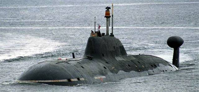Two Akula-class subs like this one were reportedly tracked in the Irish Sea recently
