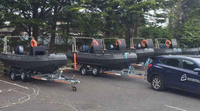 O'Sullivan's Marine Hand Over Whaly 500R Boats to Inland Fisheries Crews