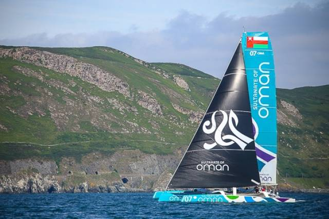 Sidney Gavignet's Musandam-Oman Sail broke its own record time this morning