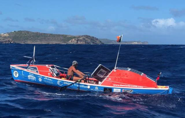 Atlantic Rower Damian Browne Arrives in Antigua to Big Welcome