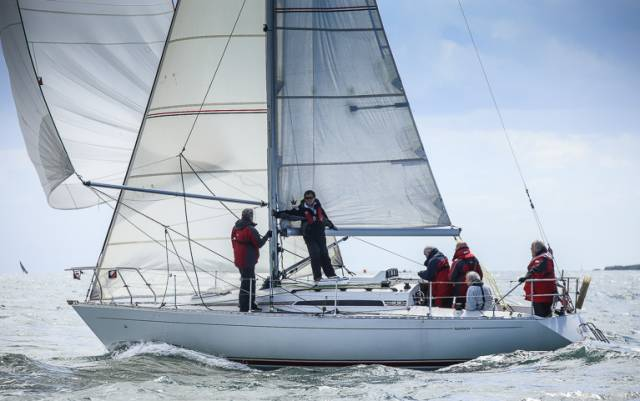 Gwili Two (D.Clarke and P. Maguire) from the Royal St. George Yacht Club was a Sigma 33 DBSC Race Winner